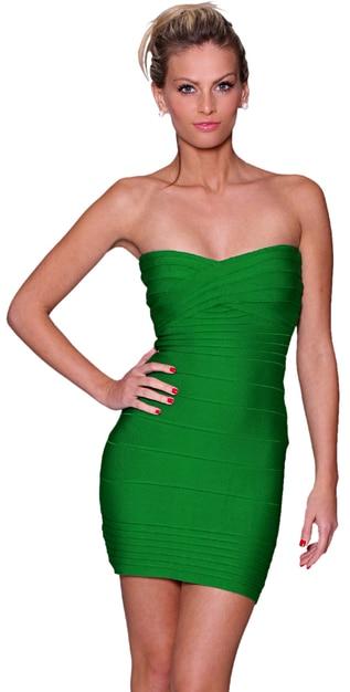 emerald green kim kardashian rayon sexy lady strapless hl above knee bodycon pencil celeb bandage dresses