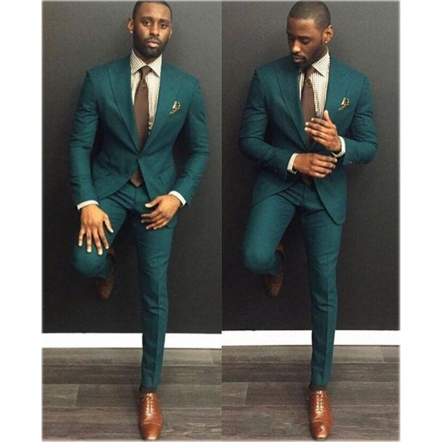 Aliexpress.com : Buy Custom Made Green Men's Suits Handsome Slim ...