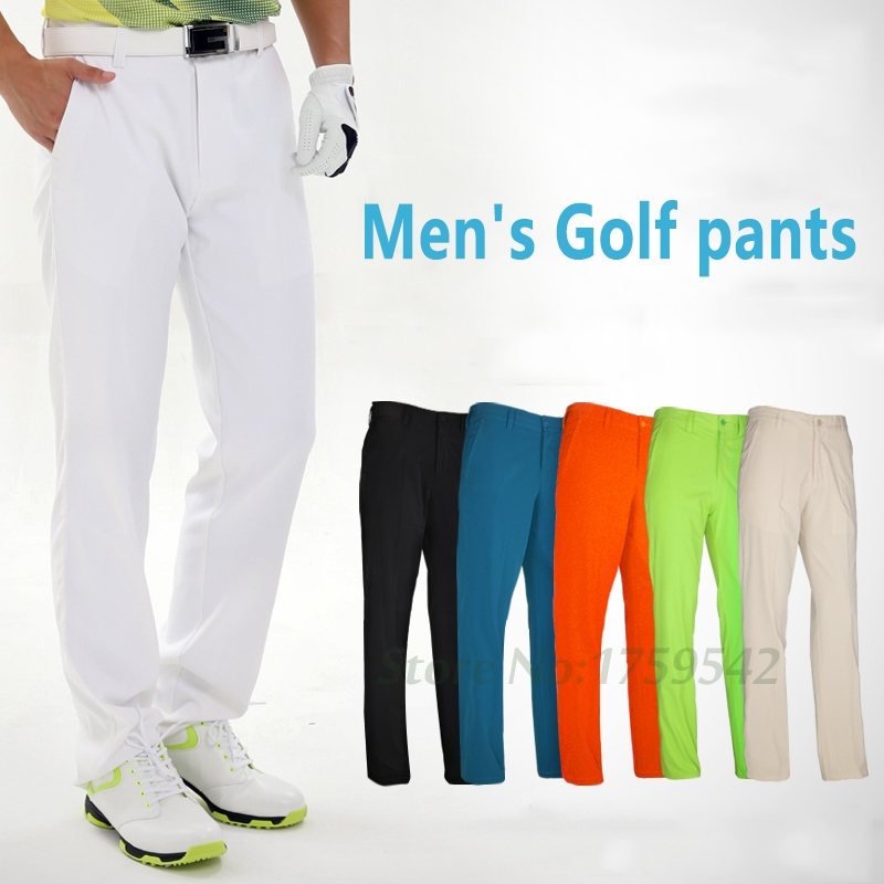 2017 Mens Golf Pants Quick Dry Waterproof Sports Colorful Golf Trousers Summer Thin Pants Outdoor Golf Clubs Brand