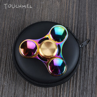 TOUCHMEL High Quality Stress Wheel Toy Titanium Hand Spinner Metal Fidget Spinner EDC