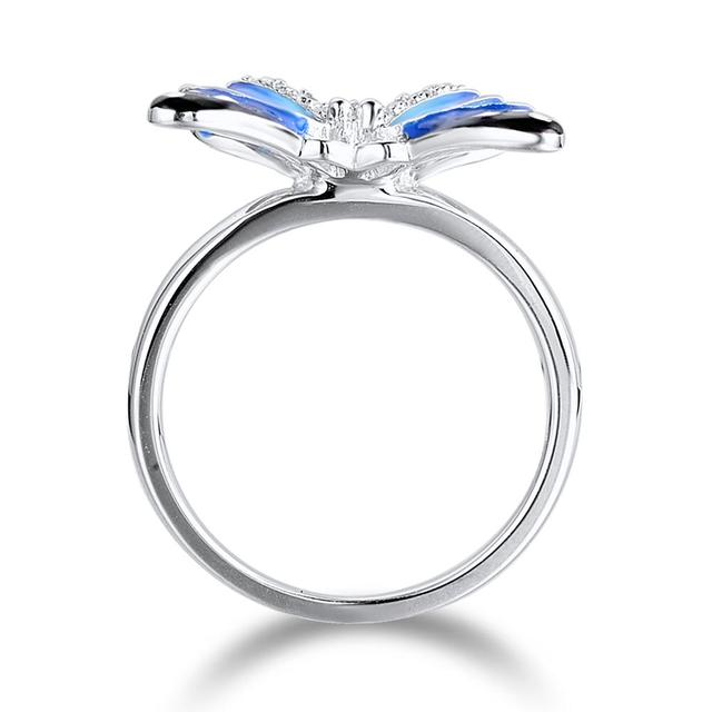 Charming Blue Butterfly Ring For Women | Fashion Jewelry