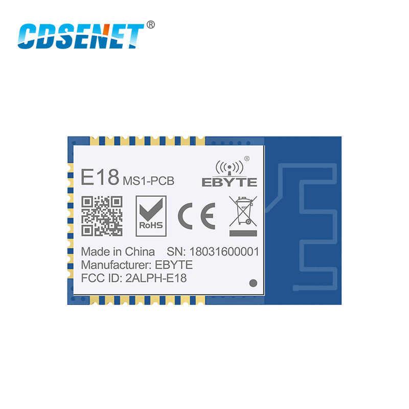 Zigbee placa, 2.4ghz cc2530 core smd sem fio rf módulo cdsenet E18-MS1-PCB spi transmissor receptor com escudo pcb antena ipx