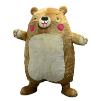 cosplay costume New style Flatout Bear mascot costume for adult costumes for big party free shipping