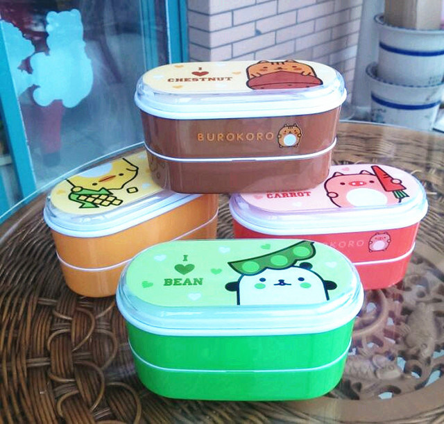 Высокое качество Мультфильм здоровый Пластик Коробки для обедов 600 мл Bento Коробки Еда контейнеров посуда Ланчбокс столовые приборы