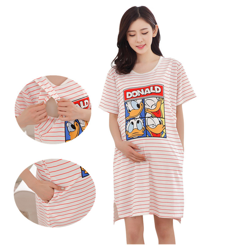 Breastfeeding nursing nightgowns maternity pajamas nursing night ...