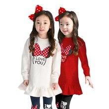 Одежда для девочек комплект из двух предметов, футболка с длинными рукавами и принтом с героями мультфильмов, леггинсы хлопковая качественная одежда для детей возрастом от 3 до 8 лет Лидер продаж года