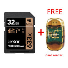 Original!!! Lexar 32GB SDHC Karte U1 64GB 128GB 256GB U3 Sd karte SDXC Speicher Karte C10 95 mt/s 633x Für 1080p 3D 4K video Kamera