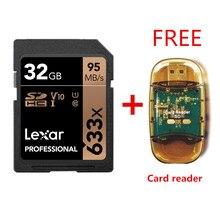 Originale!!! Lexar 32 Gb Sdhc Card U1 64 Gb 128 Gb 256 Gb U3 Sd Card Scheda di Memoria Sdxc C10 95 m/S 633x per 1080 P 3D 4K Video Macchina Fotografica