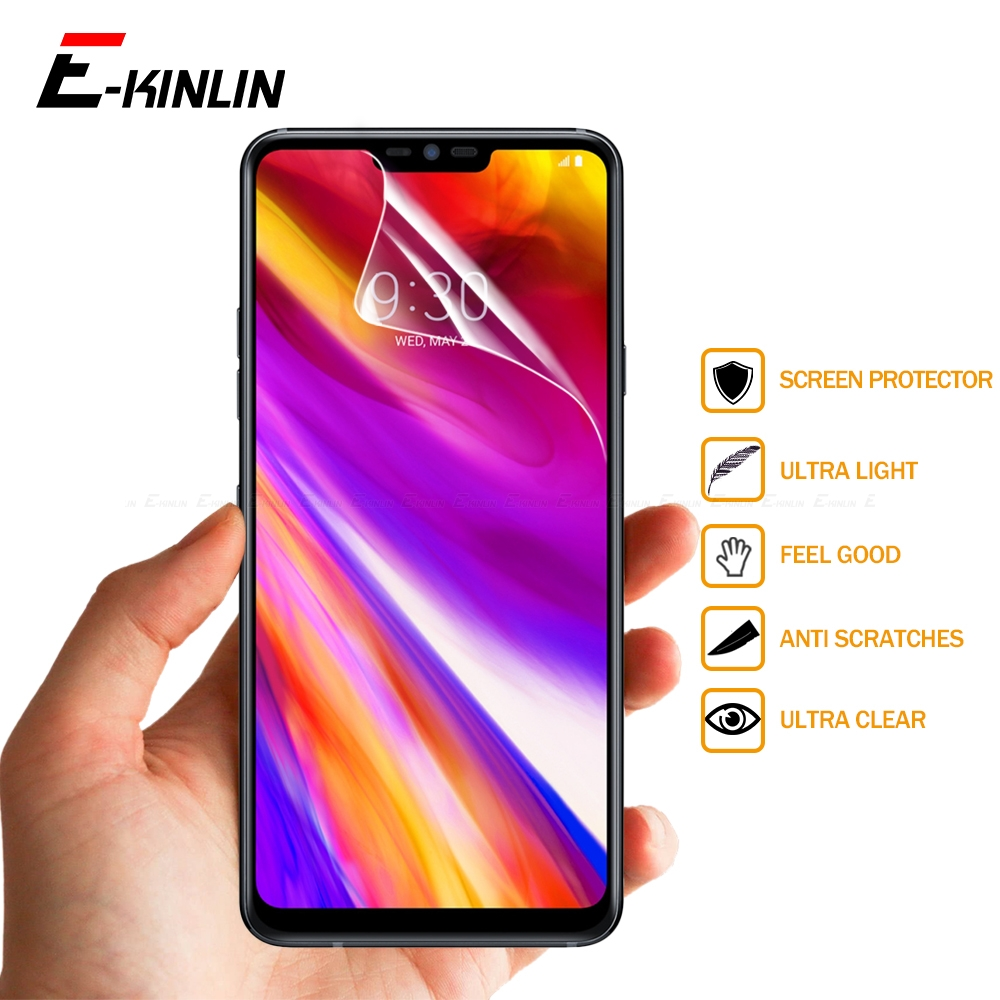 Clear Soft Nano Explosion Proof Display Screen Protector HD Protective Film For LG G7 Q7 Q6 Plus ThinQ Prime Noir Q7a Q6a Alpha image