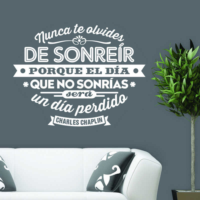 Spain Charles Chaplin quotes vinyl wall stickers art mural poster living room and bedroom home decor house decoration DW1055