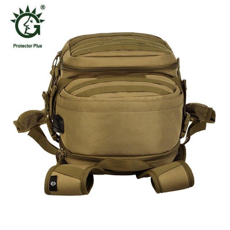 Nouveau sac homme loisirs militaires nylon étanche sac à dos de 25 litres double sac à bandoulière câble de données sac à dos rechargeable. - 5