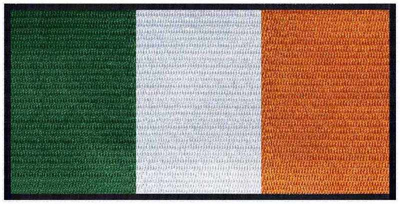 "Ireland iron on bordado Parches de bandera logos 3 ""ancho/congelado/aplique de tela/parches de anarquía sons"