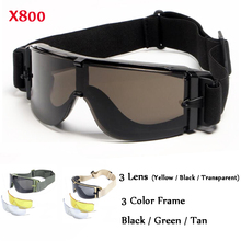 Military Airsoft Men X800 Sunglasses Tactical Goggles Army P