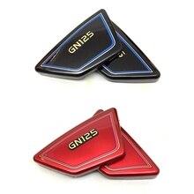 Для Мотоцикла Suzuki GN125 боковая крышка бака черный и красный ABS Материал защитная доска