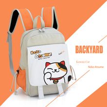Japan Cartoon Neko Atsume Cat Backyard Backpack Schoolbags Shoulder Bag Satchel Casual Harajuku Travel Laptop Rucksack Unisex