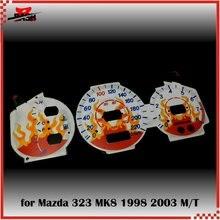 DASH EL светящийся датчик для Mazda Premacy 323 MK8 Lynx Laser Tierra 1998 2003 ручная передача звуковая активация Пламя Дизайн
