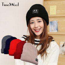 69fb9dc8ddb Women s Hat knitted Plain Solid Wool Hats For Winter Hip-hop Style Top Hot  Sale Gorros For Female Good Quality Casual Cap Beanie