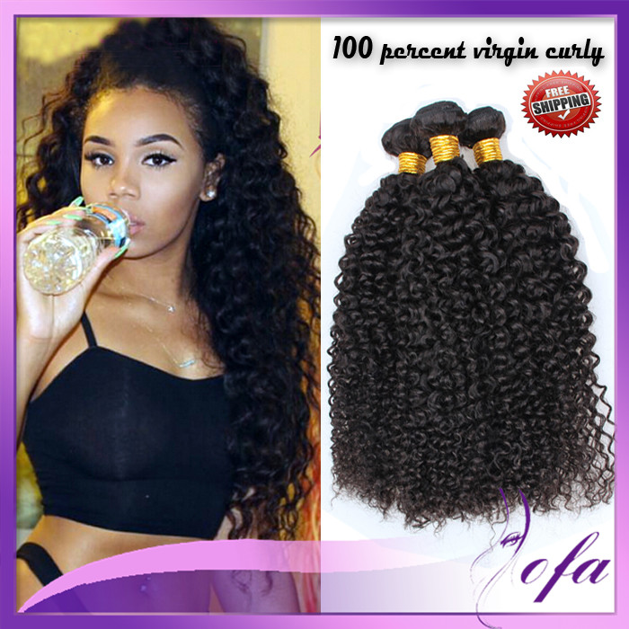 8a Grade Mink Curl Virgin Hair Brazilian Hair Weave Bundles Crazy