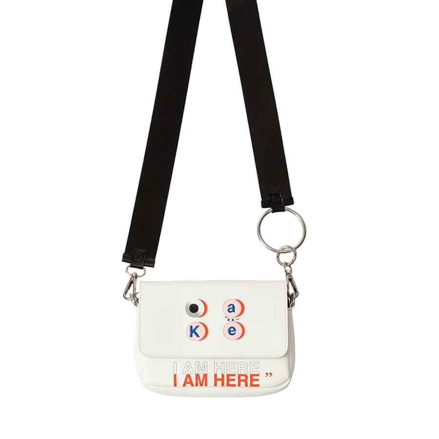 KOMESHOP PU bordado de cuero y bolsas de mensajero impresas para - Bolsos - foto 2