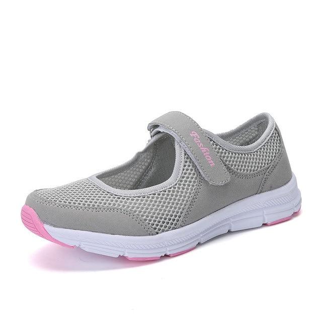 Zapatos de mujer plataforma plana mocasín malla de verano zapatos antideslizantes zapatos de malla Oxford de peso ligero plano para mujer