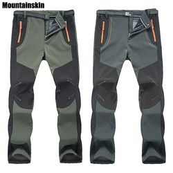 2018 New Winter Men Women Hiking Pants Outdoor Softshell Trousers  Waterproof Windproof Thermal for Camping Ski eb39f5f5585