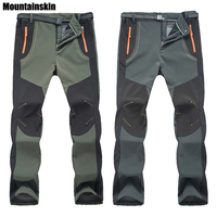 2016 New Winter Men Women Hiking Pants Outdoor Softshell Trousers Waterproof Windproof Thermal For Camping Ski