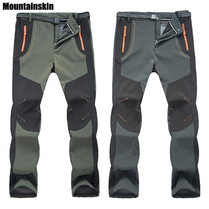 2018 Nouveau Hiver Hommes Femmes Randonnée Pantalon En Plein Air Pantalon Softshell Coupe-Vent Imperméable Thermique pour Camping Ski Escalade RM032