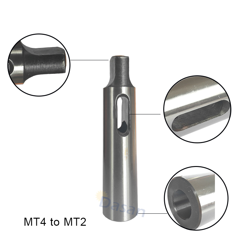 MT4 to MT2 1PC Spindle Morse Taper Reducing Reduction Adapter Drill Sleeve Spindle Tool for Lathe Milling 1pcs adapter morse cone precision mt2 for morse taper 0 000197 long spindle 2 cnc milling tool