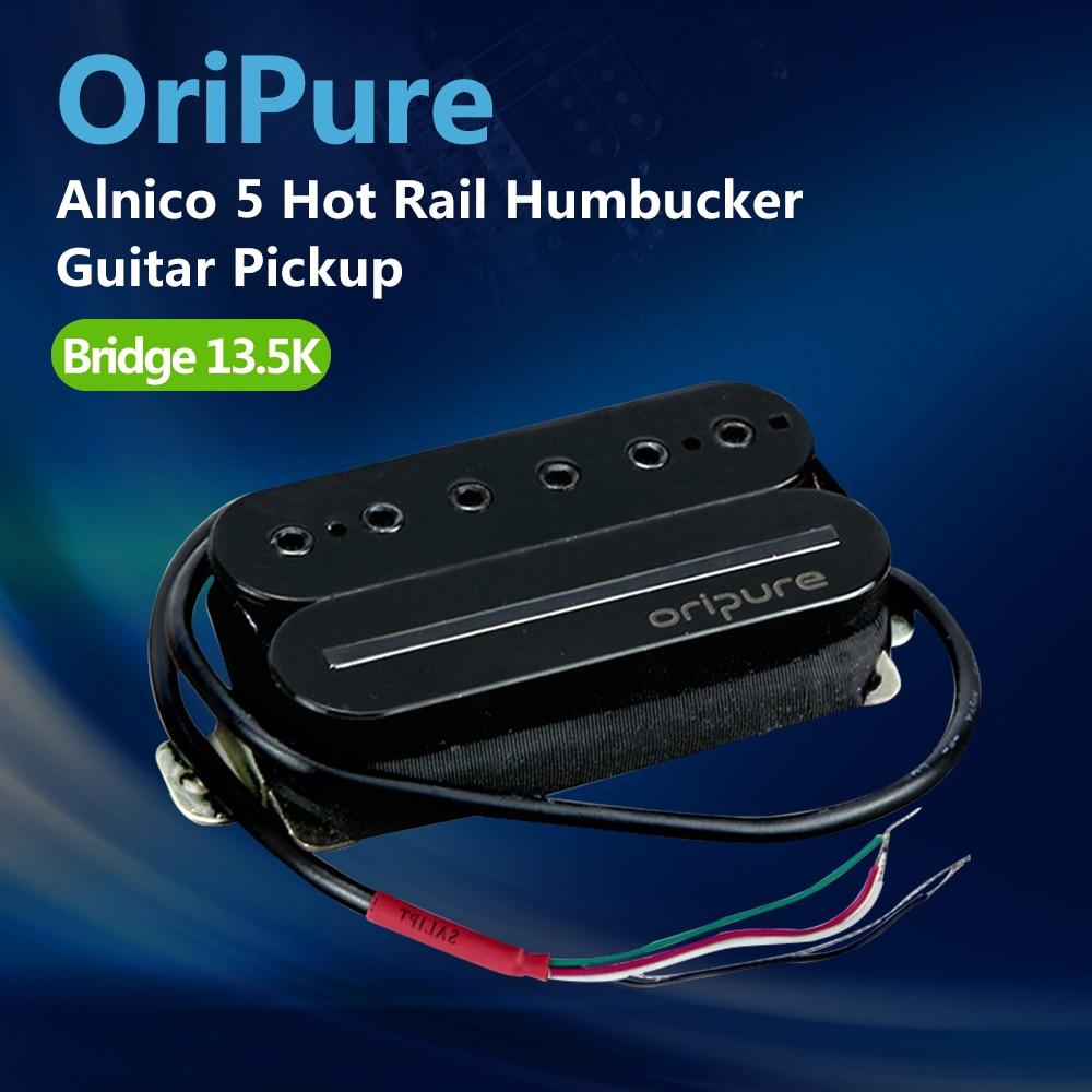 OriPure Alnico 5 Rail Humbucker Pickup Bridge Electric Guitar Pickup Hot Rail Blade Single Coil Guitar