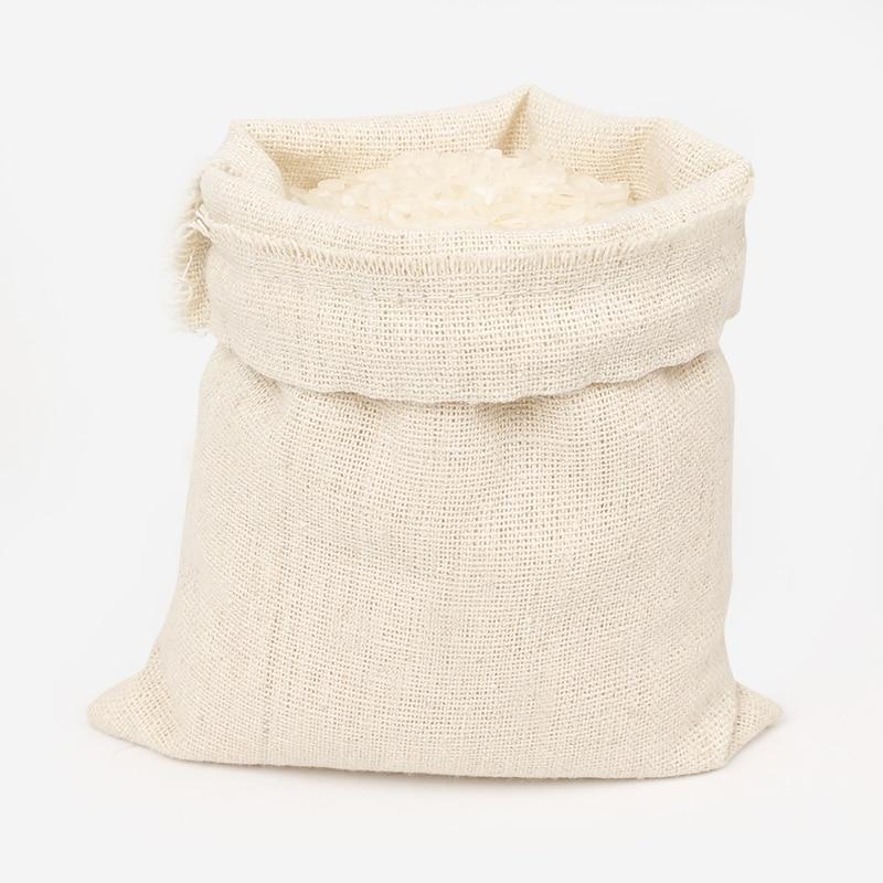 Купить с кэшбэком Cotton sacks Gift Necklace Bracelets Linen Drawstring Bags Size15x20cm Jute Rice Bags Custom Storage Pouch 100pcs