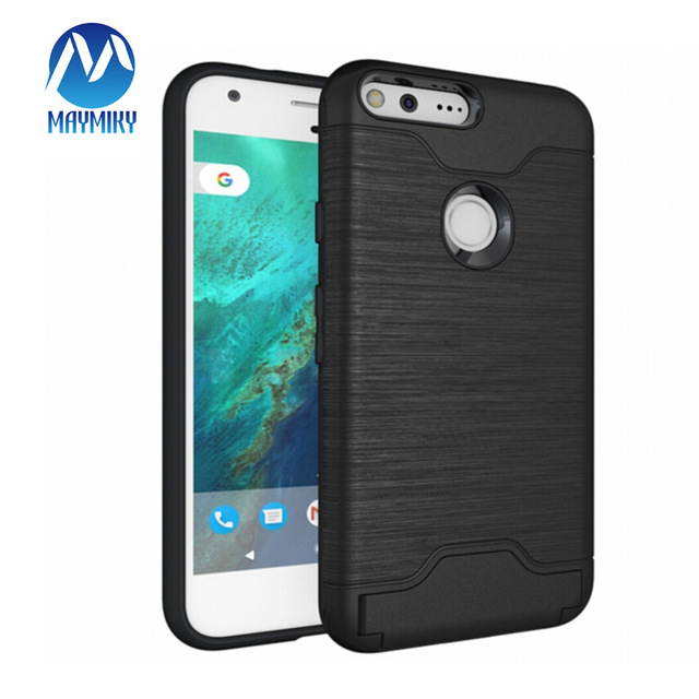 new arrival 7d9ce b04b8 US $2.99  2 in 1 Combo Case For Google Pixel XL Case Stand Holder Cover  Hidden Card Slot Phone For Google Pixel Cases Brushed Case Capa-in ...