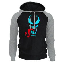 Fashion Luminous Venom Cool Printed Casual Raglan Hoodies Hot Selling Spring Autumn Male Hooded Streetwear Tracksuit