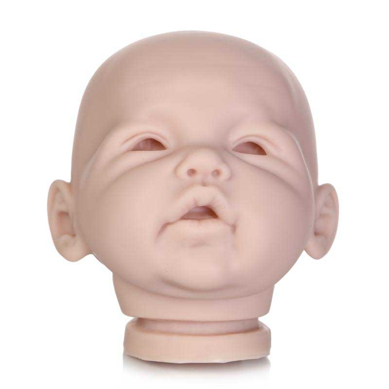 20 inch Reborn Babies Doll Kits Silicone Vinyl Head Full Arms And Legs Lifelike Unfinished Doll Parts Handmade Doll Accessories reborn baby doll kit diy a lifelike 26 28 doll reborn silicone vinyl toddler doll kits head arms legs