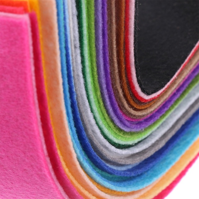 40pcs 20x10cm Non-woven Felt Fabric 1mm Polyester Cloth Felts DIY Bundle For Apparel Sewing Dolls Crafts Multi-color 5