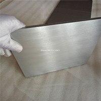 Титановый лист для ювелирного блока установки 15 см x 20 см x 1 см идеально плоский, 2 шт. оптом