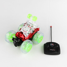 Children s electric stunt rolling car remote control dump kids lighting dumpers tumbling off road font
