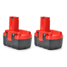 Top Deals 2 Pack Power Tool Replacement Battery for BAT040 [14.4V, 2.0Ah, NiCd], Red&Black