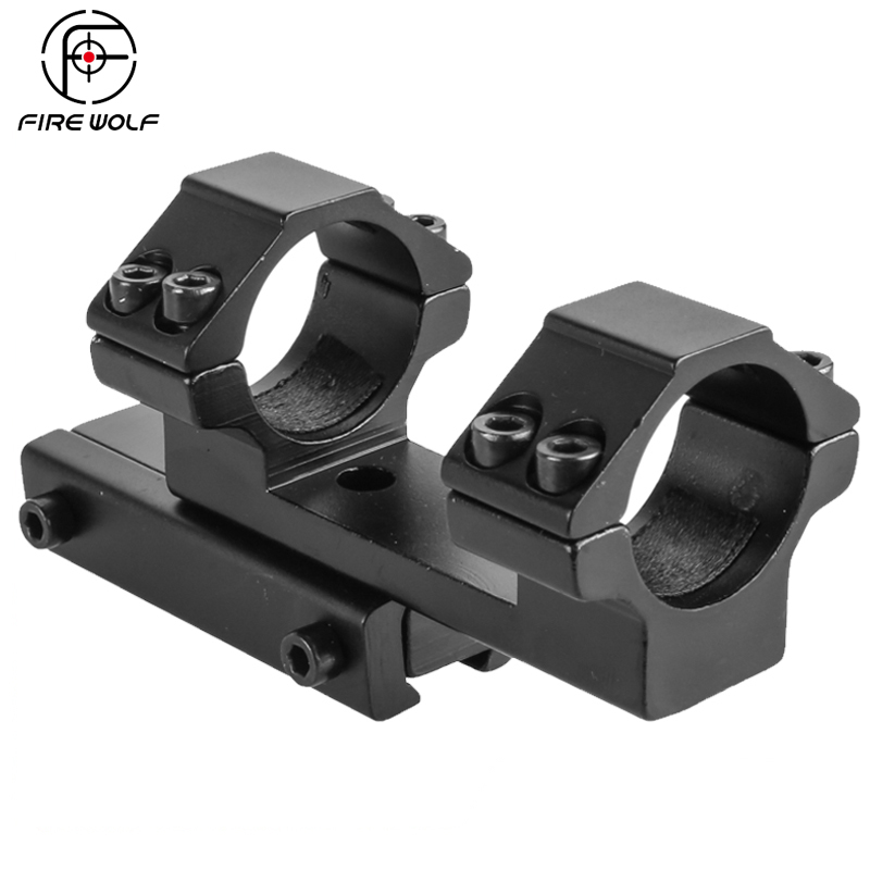 FIRE WOLF Hunting Accessories Picatinny Rail Weaver 1 pc Extended DIY 25.4mm Ring 11mm Dovetail Rail Z type Scope Mount|Scope Mounts & Accessories|   -