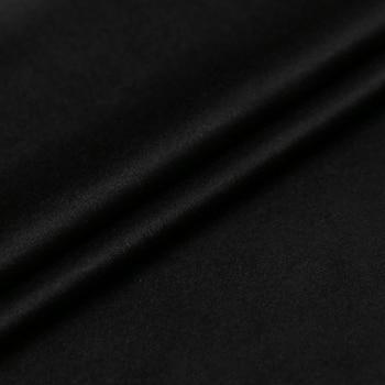 Offre Spéciale Haut De Gamme Court Doux Cachemire Laine Tissu Pour Manteau Classique Pur Noir Tissus Fins Tissu Au Mètre Lumineux Tissu Bricolage