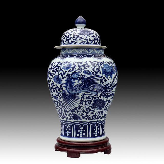 Blue And White Dragon Chinese Reproduction Ceramic Ginger Jars