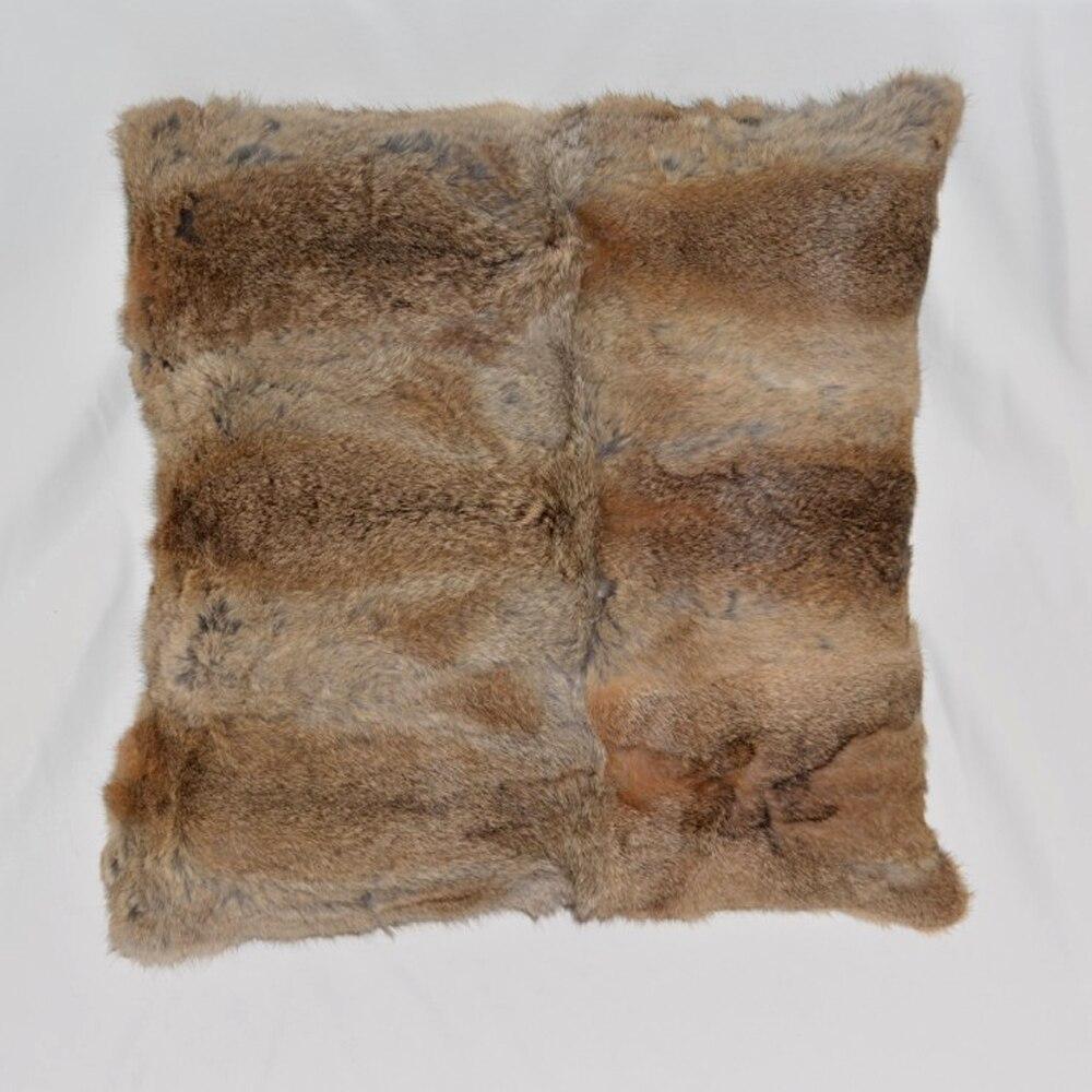 Real Fur Pillow Real Fur Cushion Cover 45x45 cm Knit Rabbit Fur Pillow Case  Cushion Cover