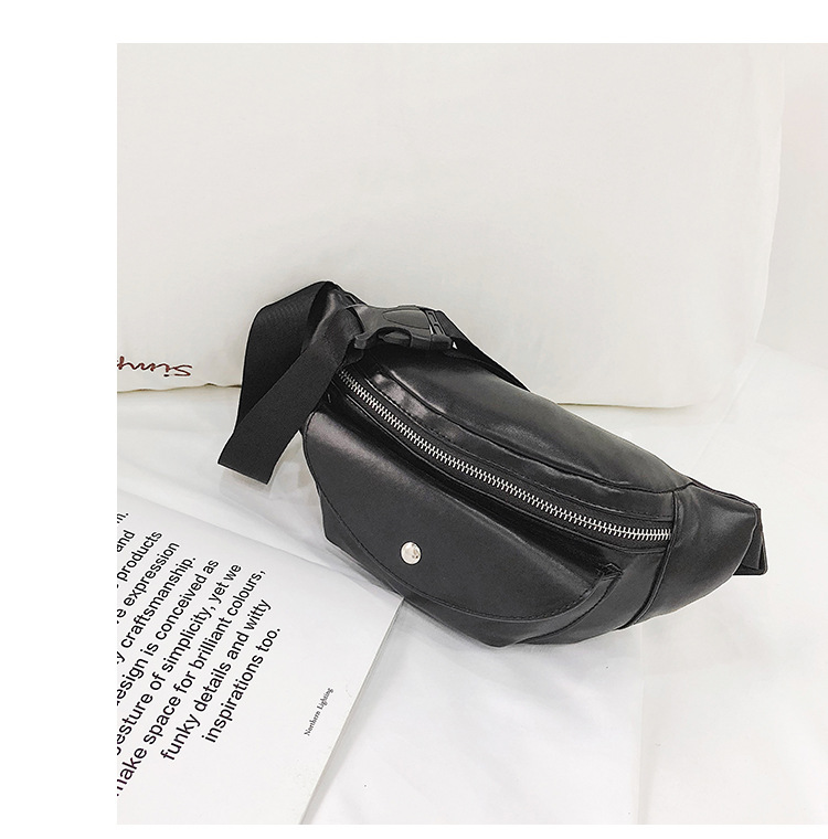 QIUYIN Travel Running Belt Bag Phone Pouch Casual Bum Bag Durable PU Leather Waist Bag Men Multi Zipper Pockets Fanny Pack in Waist Packs from Luggage Bags