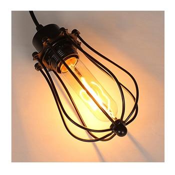 Vintage cage chandelier  Edison light bulb loft  Restaurant Bedroom Pendant LED lighting industry Vintage iron Lamps for home 5