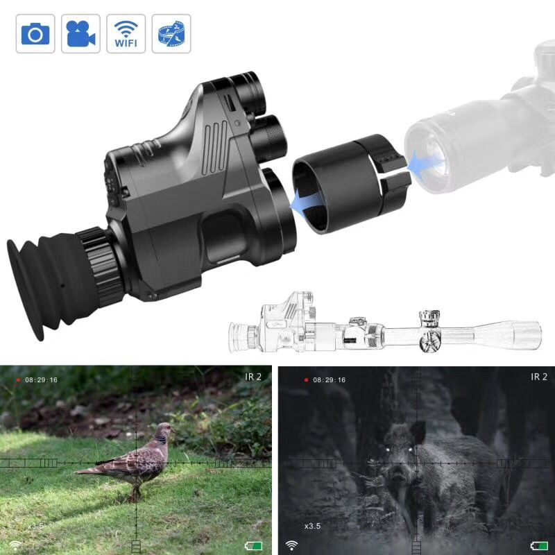 Digital Night Vision Scope Take HD 1944 Picture Hunting Cameras NV Rilfescope Tactical Scope for Night Hunter wgx2 hd night vision rilfescope 1280x720 display night vision hunting scope digital ir night vision scope optical 200m range