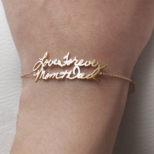 Custom Nameplated Bracelets Gold Silver Chain Personalized Double Names Bracelet For Women Bridesmaids Gift Boho Jewelry