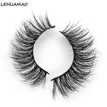 LEHUAMAO Eyelashes 3d Mink Lashes Luxury Hand Made Soft Thick Long Cruelty Free Upper A15