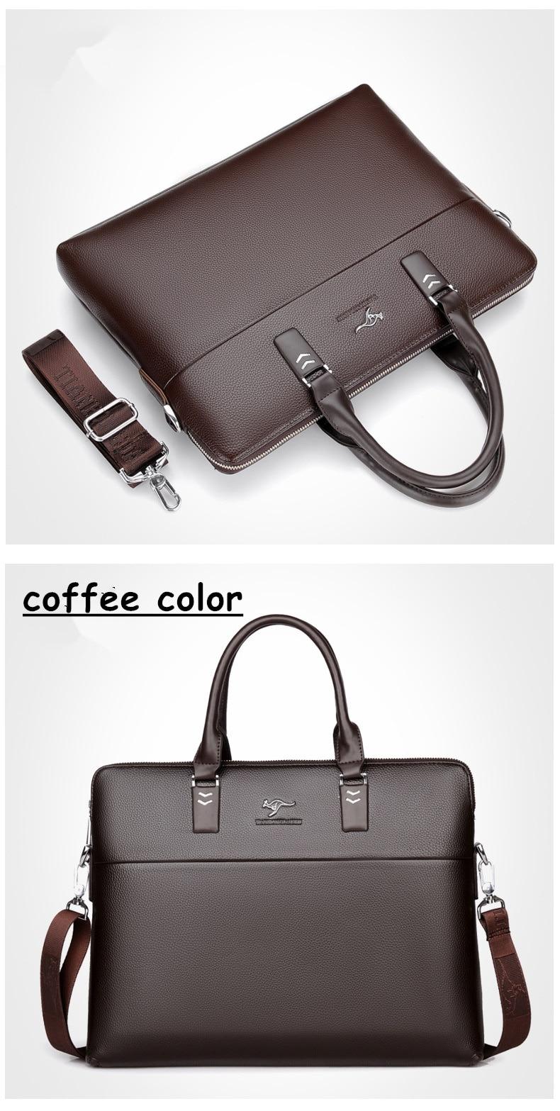HTB1Bf7vgpcJL1JjSZFOq6AWlXXaa TIANHONGDAISHU Men Casual Briefcase Business Shoulder Leather Messenger Bags Computer Laptop Handbag Men's Travel Bags handbags