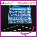 Óculos de óculos de reparação peças acessórios caso Kit Set chave de fenda parafuso porcas anilhas pinças bucha HBS31 Shippi livre