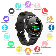 купить SKY 1 Smart Watch Men IP68 Waterproof Smartwatch Fitness Tracker Watch Clock BRIM Heart Rate Monitor For Android iOS Phone по цене 1715.24 рублей