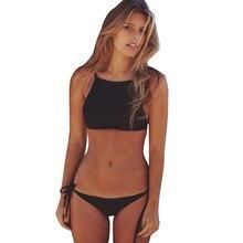 Black String Bottom Bikinis